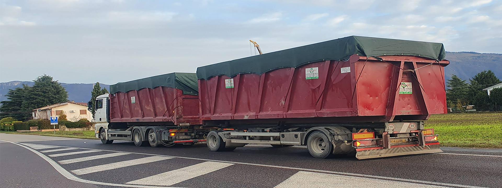 rete per copertura camion per trasporto materiali sfusi